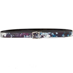 Calvin Klein Floral Black Reversible Belt